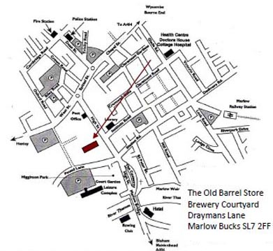 Map to find The Market Researchers Market Research Agency, Marlow, Bucks
