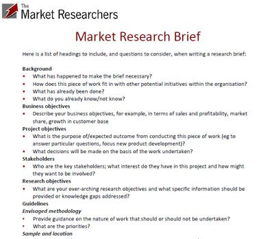 Market Research Proposal Writing What Is A Marketing Research